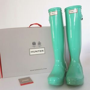 Hunter Tiffany Blue Original Tall Boots
